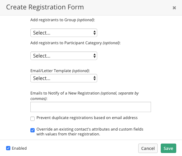 Registration Form Template | Registration Forms Kindful Help Center