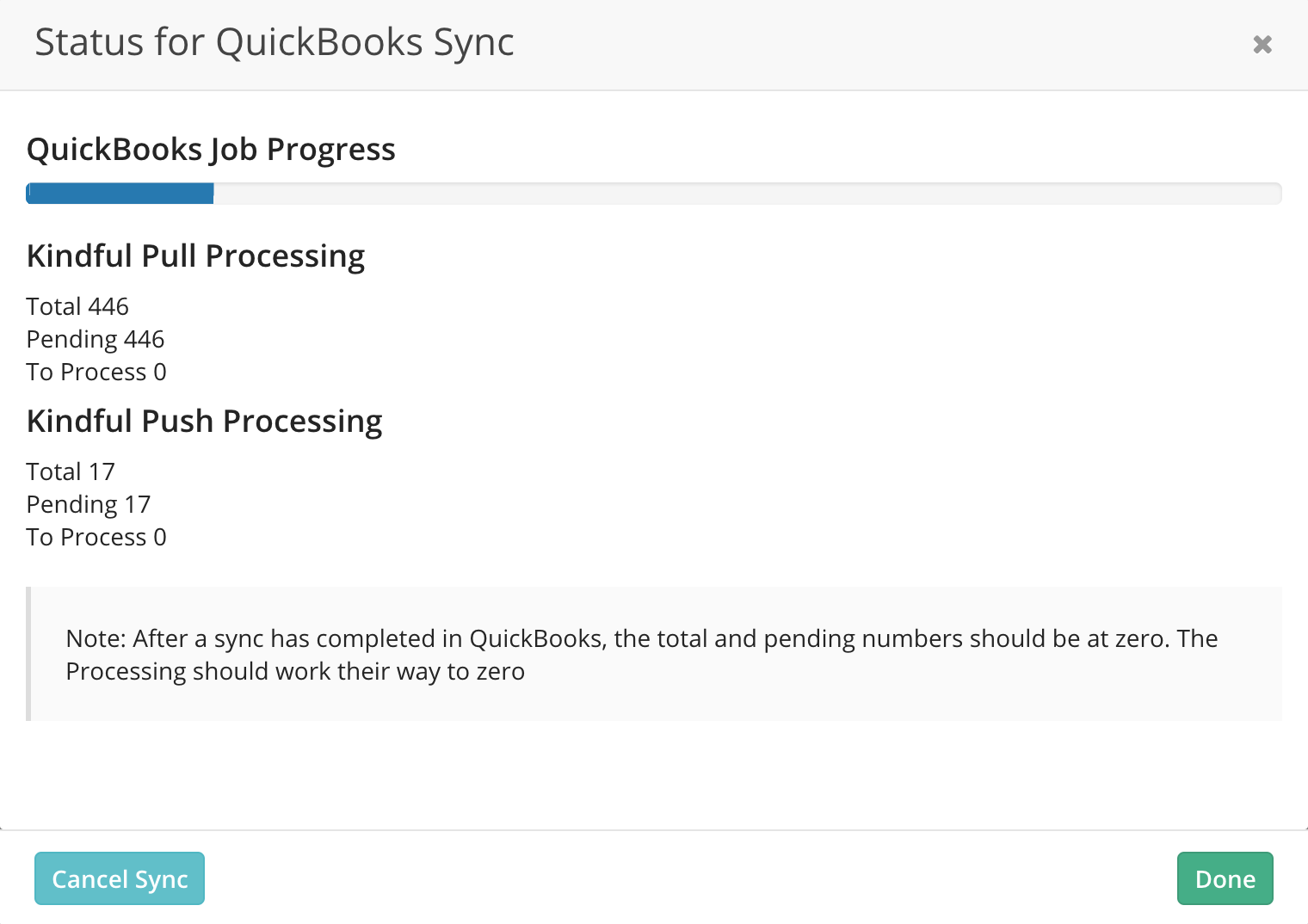How to kick off a sync with QuickBooks Desktop – Kindful