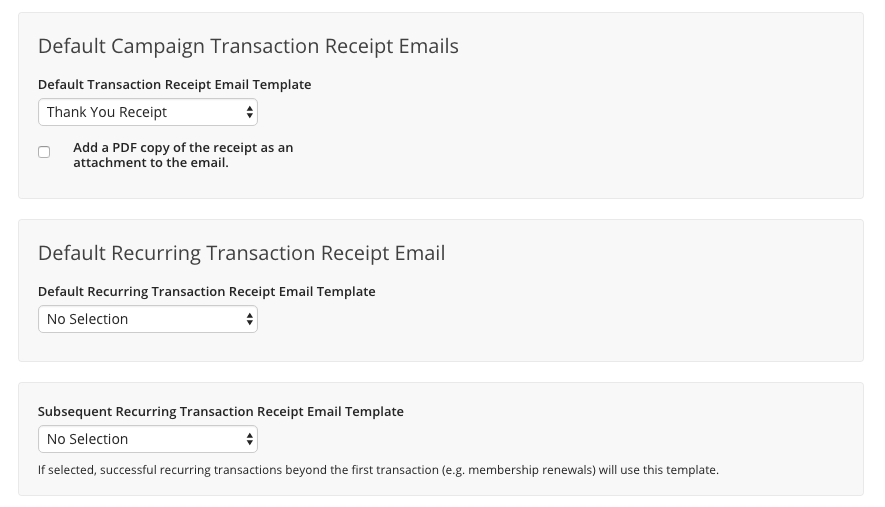 recurring transaction receipts and processing kindful help center